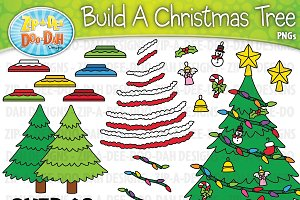 Build A Christmas Tree Clipart Set