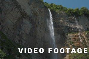 High waterfall Kinchkha in Georgia