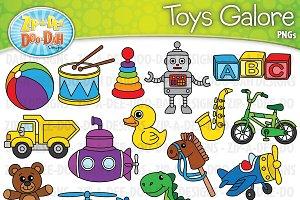 Toys Galore Clipart Set