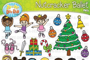 Nutcracker Ballet Clipart Set