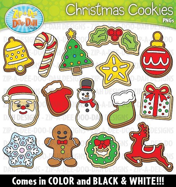 Christmas Cookies Clipart Set