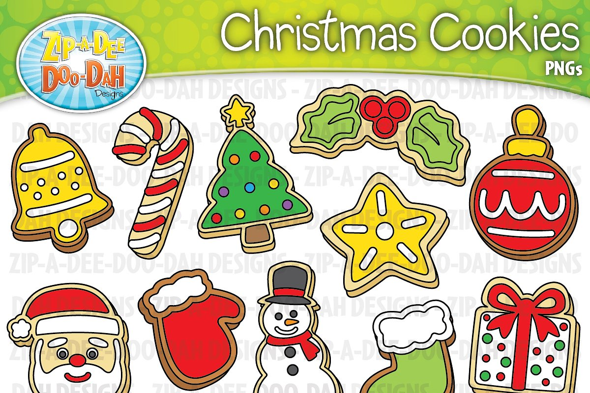 Christmas Cookies Clipart.Christmas Cookies Clipart Set Graphics Creative Market