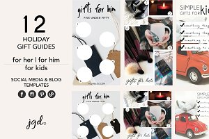 Holiday Gift Guide Social Bundle