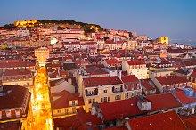 Skyline of Lisbon downtown