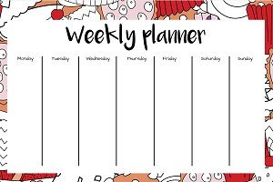Weekly and Daily Planner - Cupcakes