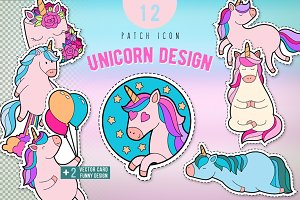 Pink unicorn sticker pack