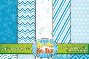 Winter Snowflake Digital Paper Set