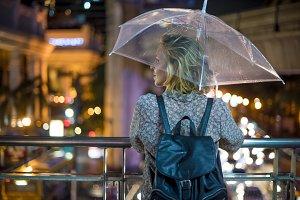 Woman travel shoot