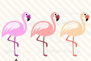 Pink Flamingo Clipart Vectors