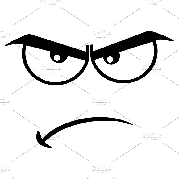 Black And White Angry Face Illustrations Creative Market