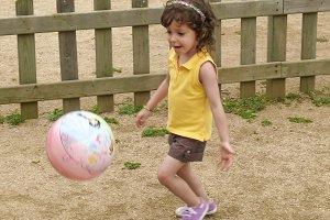 Girl playing ball (1 of 3)