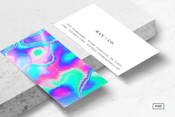Holographic Business Card Template