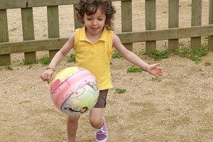 Girl playing ball (2 of 3)