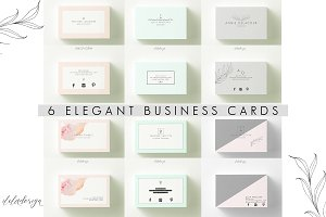 6 Elegant Business Cards-Bundle