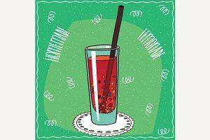 Homemade berry lemonade