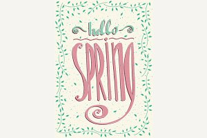 Lettering Hello spring
