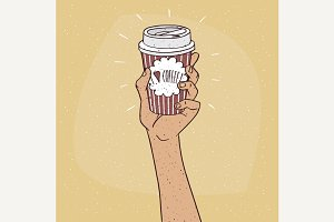 I love coffee on paper cup of coffee