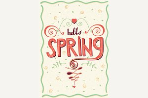 Inscription Hello spring