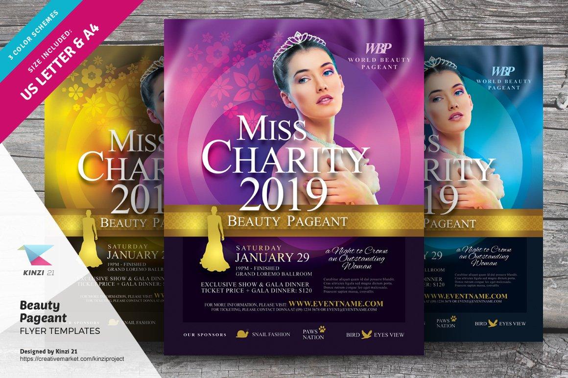 beauty pageant flyer templates flyer templates creative market