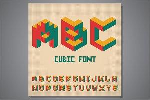 Cubic isometric font