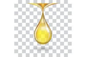 One big yellow drop