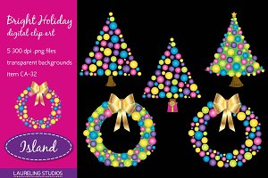 Bright Holiday clip art