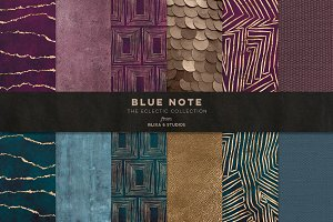 Blue Note Golden Abstract Graphics