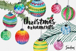 Christmas baubles clip art