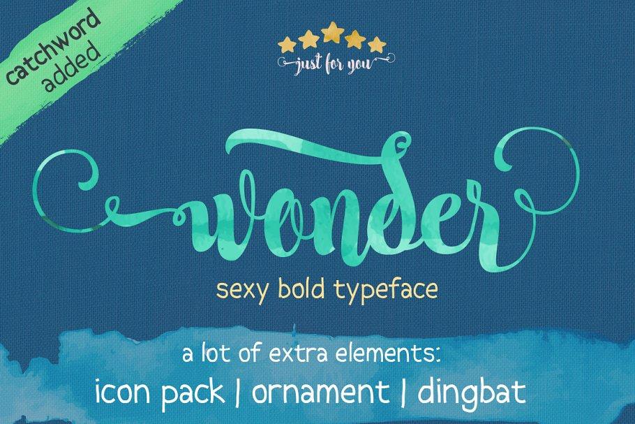 Wonder ~ Script Fonts ~ Creative Market