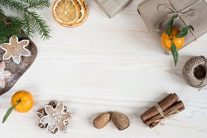 Rustic Christmas Flat lay