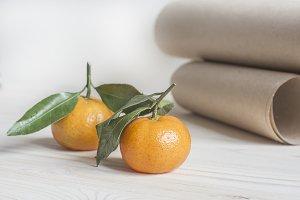 Tangerine Rustic Desktop