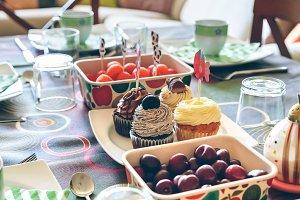 Tasty breakfast for party fun