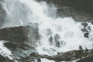 Landscape Waterfall in Norway