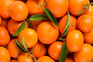Background of tangerine fruits.