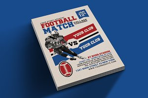 American Football Match Flyer