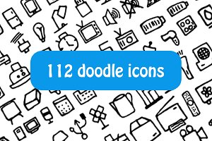 Doodle electronic icons