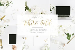 White Gold Styled Stock Photos