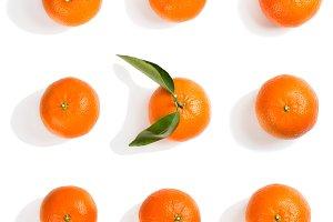 Whole tangerines.