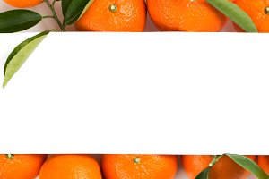 Tangerines with white paper card