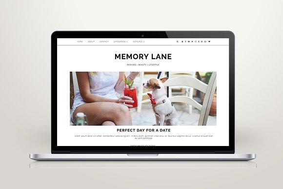 "Wordpress Theme ""Memory Lane"" in WordPress Blog Themes - product preview 1"