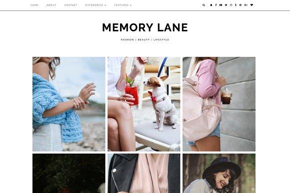 "Wordpress Theme ""Memory Lane"" in WordPress Blog Themes - product preview 3"