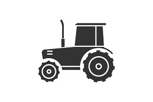 Tractor glyph icon