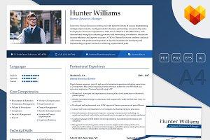 premium résumé set resume templates creative market