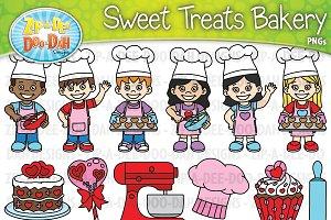 VDay Sweet Treats Bakery Clipart Set