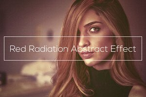 Red Radiation Abstract Effect
