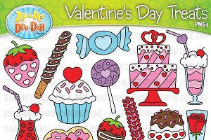 VDay Sweet Treats Clipart Set