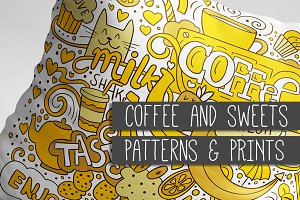 Coffee and sweets: patterns & prints