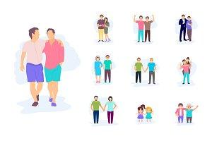 A Set of Friends Illustrations
