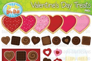 Valentine's Day Treats Clipart Set