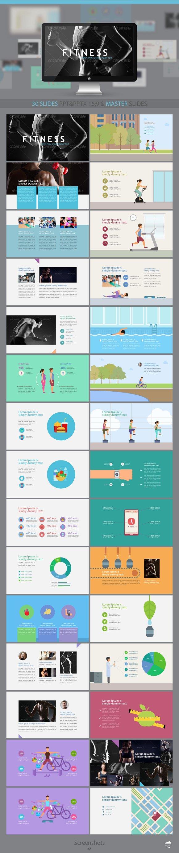 Fitness presentation.-Graphicriver中文最全的素材分享平台